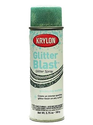 Krylon Glitter Blast Spray Paints Sparkling Waters 5 3/4 Oz. (3810)