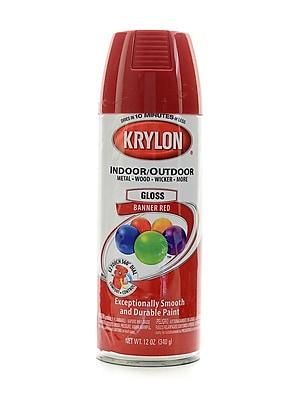 Krylon Indoor/Outdoor Spray Paint Gloss Banner Red (52108)