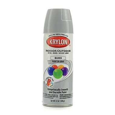 Krylon Indoor/Outdoor Spray Paint Gloss Pewter Gray (51606)