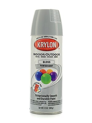 Krylon Indoor/Outdoor Spray Paint Gloss Pewter Gray (51606)