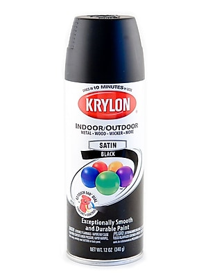 Krylon Indoor/Outdoor Spray Paint Satin Black (51613)