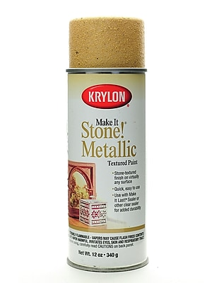 Krylon Make It Stone Faux Finishing Spray Metallic Gold (8260)