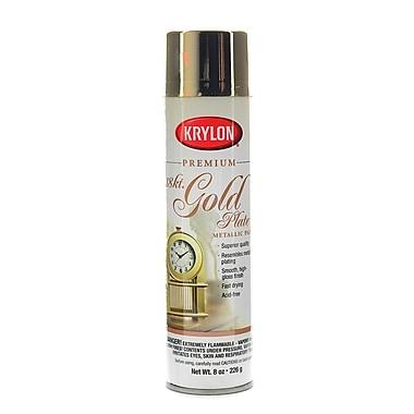Krylon Premium Metallic Spray Paint 18 Kt Gold Plate (K01000A)