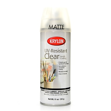 Krylon Spray Uv-Resistant Clear Matte 11 Oz. (KO1309)