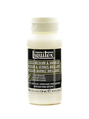 Liquitex Acrylic Gloss Medium And Varnish 4 Oz. (5004)