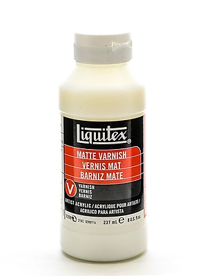 Liquitex Acrylic Permanent Matte Varnish 8 Oz. [Pack Of 2] (2PK-5208)
