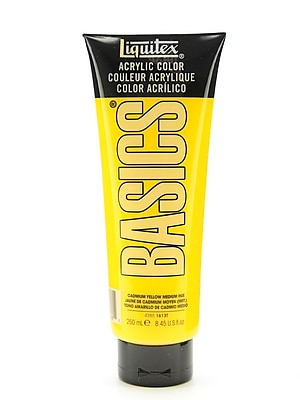 Liquitex Basics Acrylics Colors Cadmium Yellow Medium Hue 8.5 Oz. Tube (4385161)