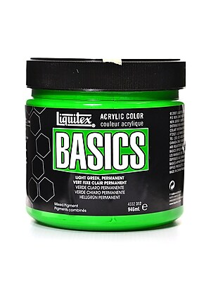 Liquitex Basics Acrylics Colors Light Green Permanent 32 Oz. Jar (4332312)