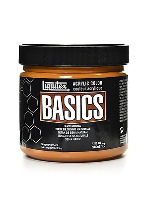 Liquitex Basics Acrylics Colors Raw Sienna 32 Oz. Jar (4332330)