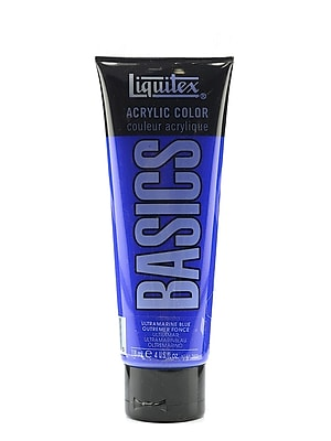 Liquitex Basics Acrylics Colors Ultramarine Blue 4 Oz. Tube [Pack Of 3] (3PK-1046380)