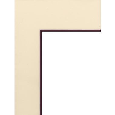 Logan Graphic Products Palettes Pre-Cut Mats Double Rectangle Antique White/Maroon 16 In. X 20 In. (M606-45)