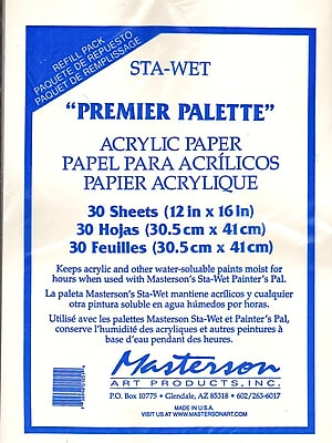 Masterson Premier Acrylic Paper And Sponge Refills Pack Of 30 Acrylic Paper Refill (105.1)