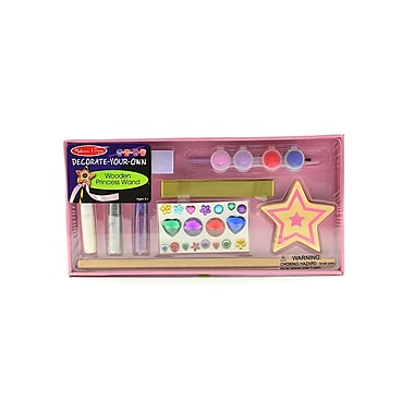Melissa And Doug Decorate Your Own Kits Wood Princess Wand (3335)