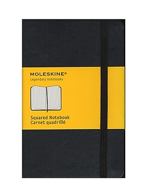 Moleskine Classic Hard Cover Notebooks Black 3 1/2 In. X 5 1/2 In. 192 Pages, Squared [Pack Of 2] (2PK-9788883701023)