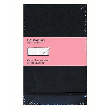 Moleskine Classic Hard Cover Notebooks Black 3 1/2 In. X 5 1/2 In. 60 Pages, Watercolor [Pack Of 2] (2PK-9788883705601)