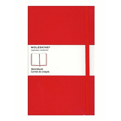 Moleskine Classic Hard Cover Notebooks Red 5 In. X 8 1/4 In. 104 Pages, Sketch [Pack Of 2] (2PK-9788862930345)