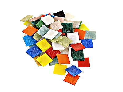 Mosaic Mercantile Solid Color Vitreous Glass Mosaic Tile Assorted 3/4 In. 1/2 Lb. Bag (AST 1/2)