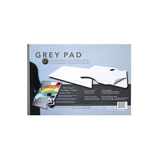 New Wave Products Grey Pad Paper Palette Rectangular [Pack Of 2] (2PK-00402)