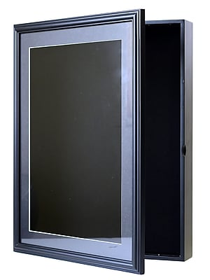 Nielsen Bainbridge Illuminated Display Case 16 In. X 21 In. Black 13 In. X 18 In. Opening (RW1621BLED)