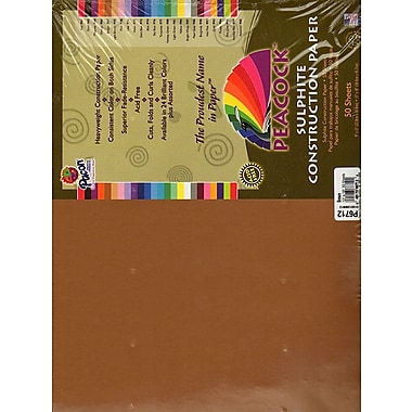 Pacon Peacock Construction Paper Light Brown 12 In. X 18 In. [Pack Of 2] (2PK-P6712)