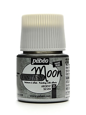 Pebeo Fantasy Moon Effect Paint Silver 45 Ml [Pack Of 3] (3PK-167035CAN)