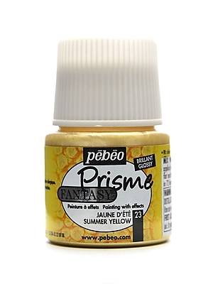 Pebeo Fantasy Prisme Effect Paint Summer Yellow 45 Ml [Pack Of 3] (3PK-166023CAN)