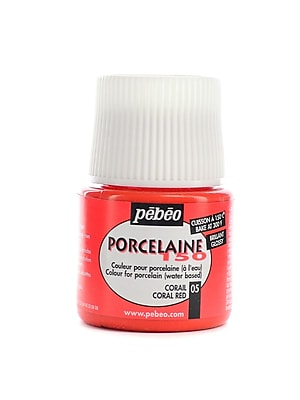 Pebeo Porcelaine 150 China Paint Coral Red 45 Ml [Pack Of 3] (3PK-024-005)