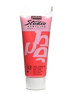 Pebeo Studio Acrylic Paint Cadmium Red Hue 100 Ml [Pack Of 3] (3PK-831-033)