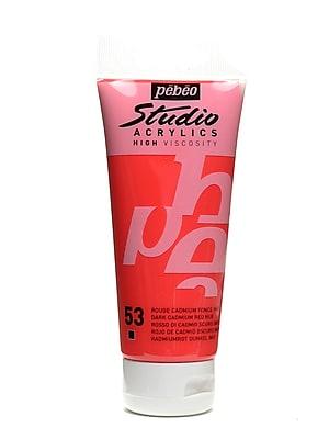 Pebeo Studio Acrylic Paint Dark Cadmium Red Hue 100 Ml [Pack Of 3] (3PK-831-053)