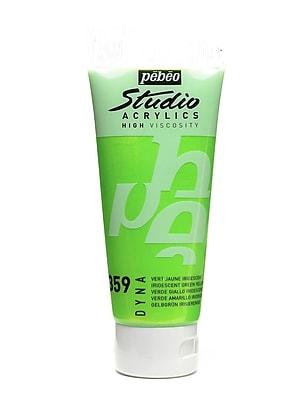 Pebeo Studio Acrylic Paint Iridescent Green/Yellow 100 Ml [Pack Of 3] (3PK-832-359)
