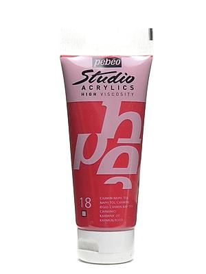 Pebeo Studio Acrylic Paint Napthol Carmine 100 Ml [Pack Of 3] (3PK-831-018)