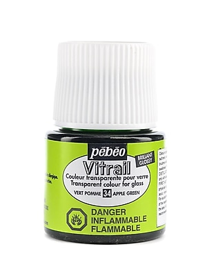 Pebeo Vitrail Paint Apple Green 45 Ml [Pack Of 3] (3PK-050-034CAN)