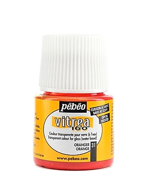 Pebeo Vitrea 160 Glass Paint Orange Frosted 45 Ml [Pack Of 3] (3PK-112031)