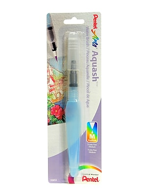 Pentel Aquash Water Brush Medium Fine Point, Empty [Pack Of 2] (2PK-FRHMBP)