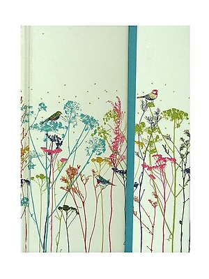 Peter Pauper Foldover Journals Floral Birds 6 1/4 In. X 8 1/4 In. 160 Pages [Pack Of 2] (2PK-9781593596651) 2138033