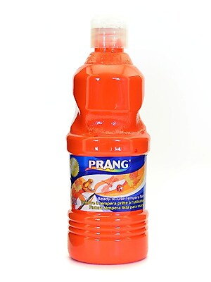 Prang Ready To Use Tempera Paint Orange 16 Oz. [Pack Of 4] (4PK-21602)