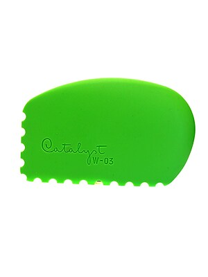 Princeton Catalyst Silicone Tools Wedge No. 3 Green [Pack Of 2] (PK2-W-03) 2134298
