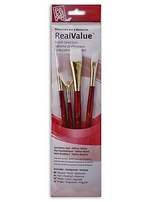 Princeton Real Value Series 9000 Red Short Handled Brush Sets 9120 Set Of 4 (9120)