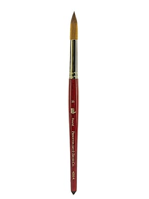 Princeton Series 4050 Synthetic Sable Watercolor Brushes 16 Short Handle Round (4050R-16)