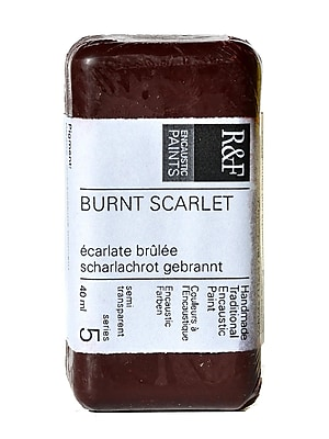 R And F Handmade Paints Encaustic Paint Burnt Scarlet 40 Ml (1058)