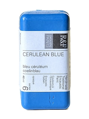 R And F Handmade Paints Encaustic Paint Cerulean Blue 40 Ml (1071)