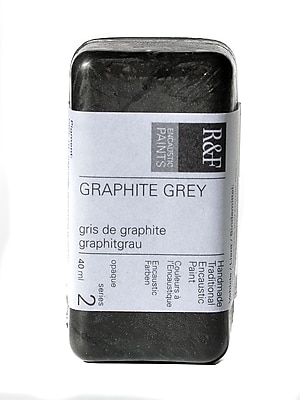 R And F Handmade Paints Encaustic Paint Graphite Grey 40 Ml [Pack Of 2] (2PK-1026)