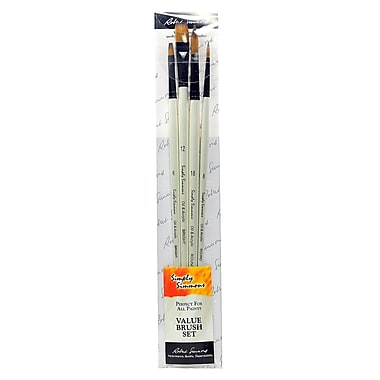 Robert Simmons Simply Simmons Long Handle Brush Sets Synthetic Set Of 4 (255410001)