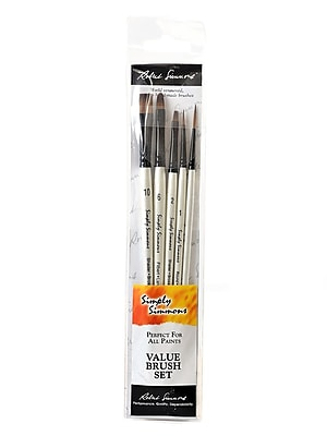 Robert Simmons Simply Simmons Value Brush Sets Everything Set Set Of 5 (255500001)