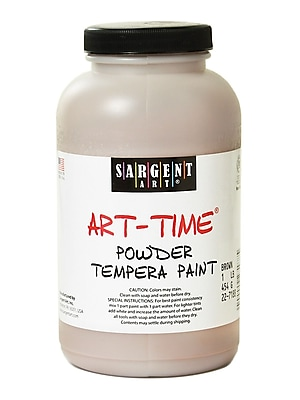 Sargent Art Art-Time Powder Paints Brown 1 Lb. Jar [Pack Of 3] (3PK-22-7188)