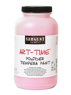 Sargent Art Art-Time Powder Paints Spectral Red 1 Lb. Jar [Pack Of 3] (3PK-22-7120)