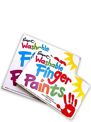 Sargent Art Washable Finger Paint Sets Set Of 8 (66-7018)