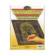 Scratch Art Scratch-Brite Scratchboard Gold, Craft Supplies Pack Of 10 (8092)