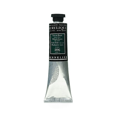 Sennelier Extra-Fine Artist Acryliques Phthalo Green (Blue Shade) 896 60 Ml (10-120021-896)
