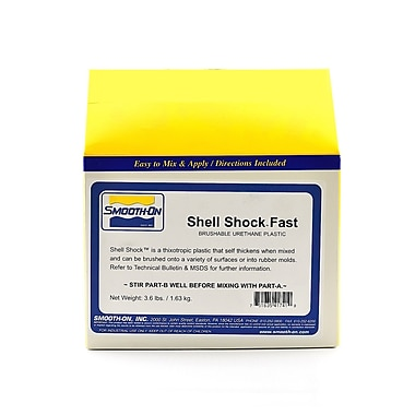 Smooth-On Shell Shock Slow Brushable Liquid Plastic 3.6 Lbs. Net Weight (41941)